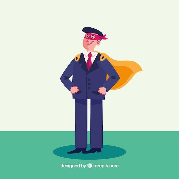 Hombre de negocios con capa y antifaz vector gratuito
