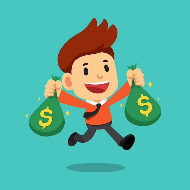 Dinero Animado Persona Con Dinero Dibujo