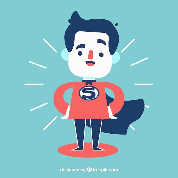 Hombre de negocios vestido de superheroe vector gratuito