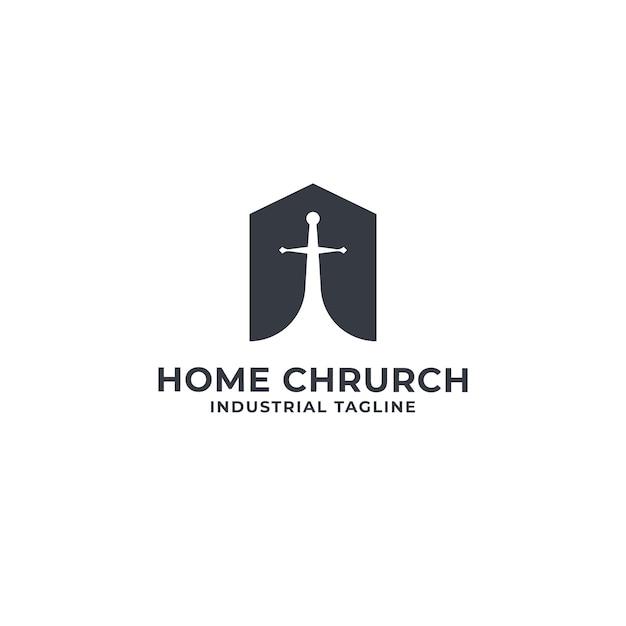 Home and chrurch logo premium Vector Premium
