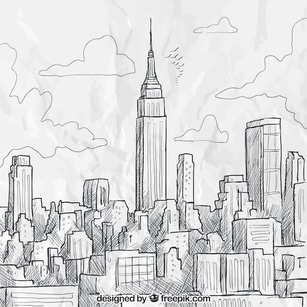 New York Para Dibujar   www.imagenesmy.com