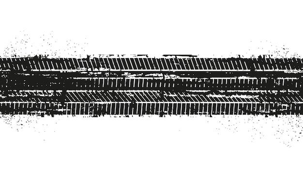Huellas de neumáticos sucios grunge Vector Premium
