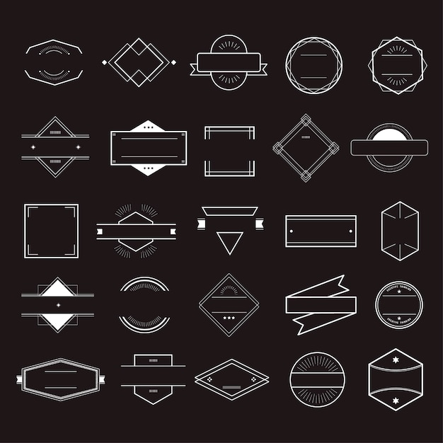 Icon symbol badge logo collection concept vector gratuito