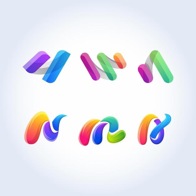Icono abstracto vector signo colorido Vector Premium