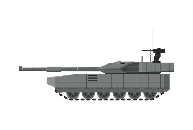 Icono aislado del tanque del ejército moderno Vector Premium