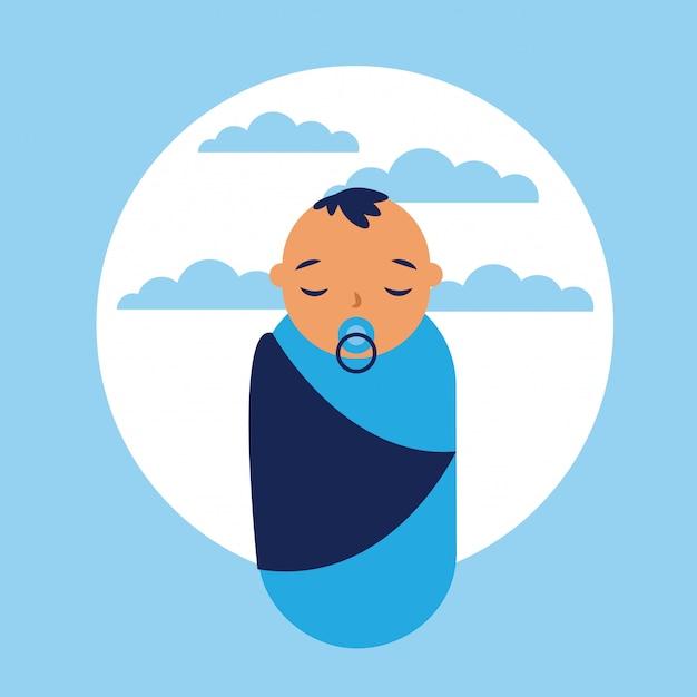 Icono de bebé, estilo plano vector gratuito
