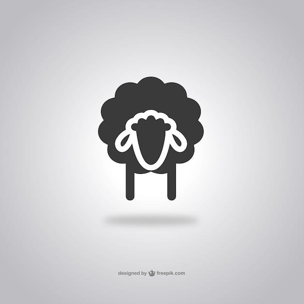 Icono de cabeza de oveja vector gratuito