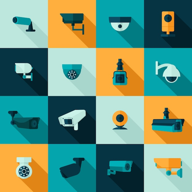 Icono de la cámara de seguridad vector gratuito