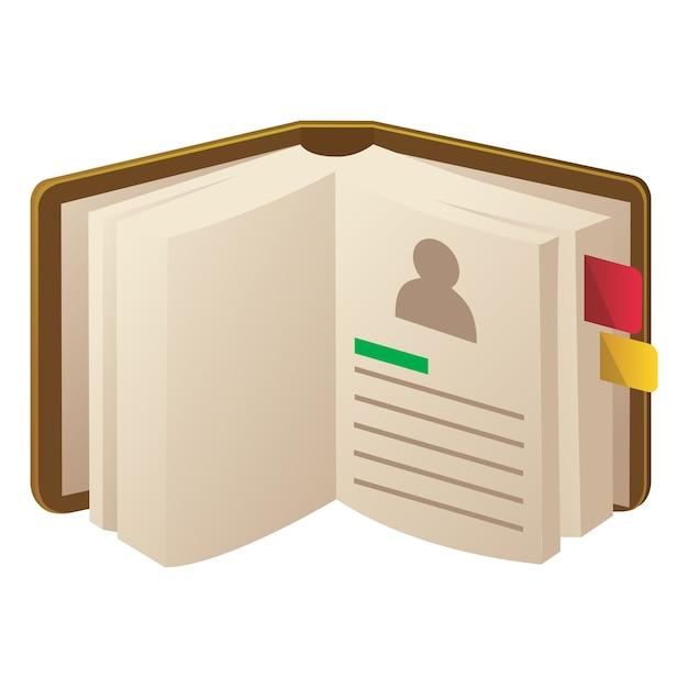 Icono de libreta de direcciones   Descargar Vectores Premium