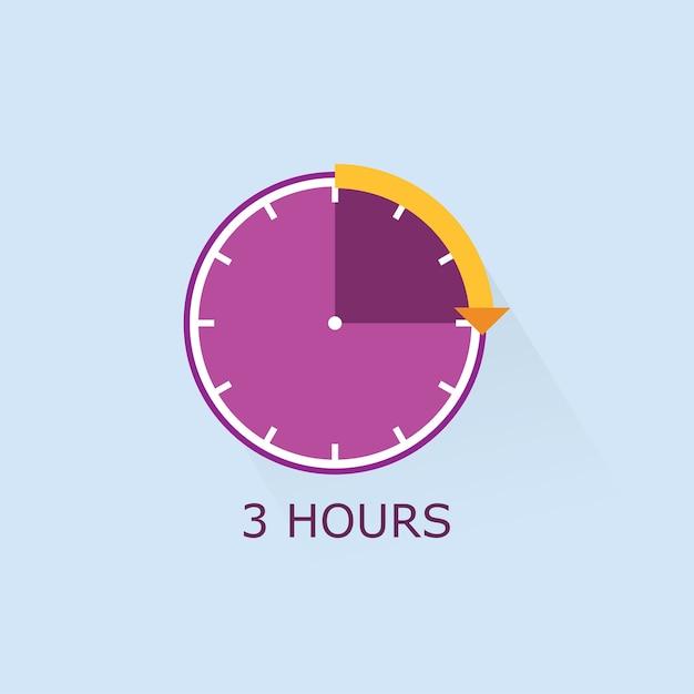 Icono de temporizador púrpura con flecha de distancia naranja ...