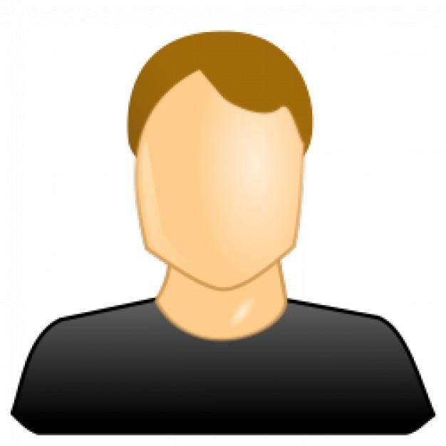 icono de usuario masculino Vector Gratis