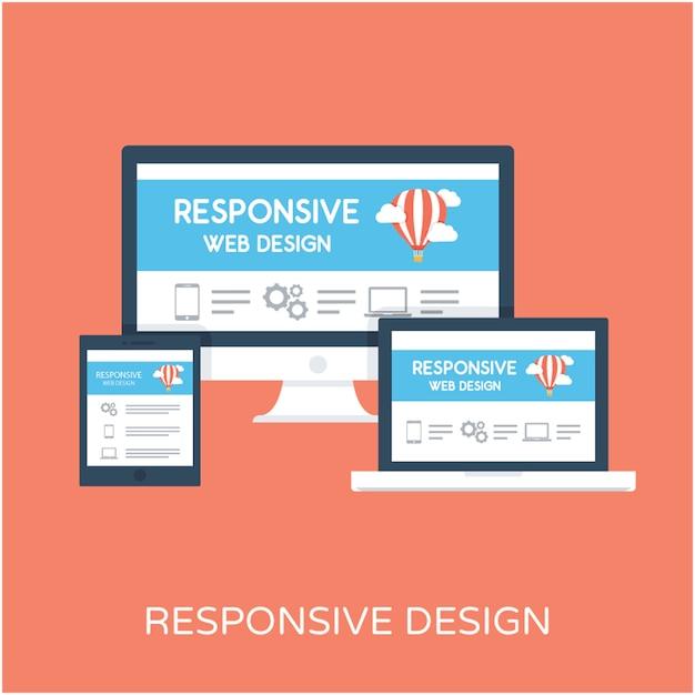 Icono de Vector plano de diseño receptivo | Descargar Vectores Premium