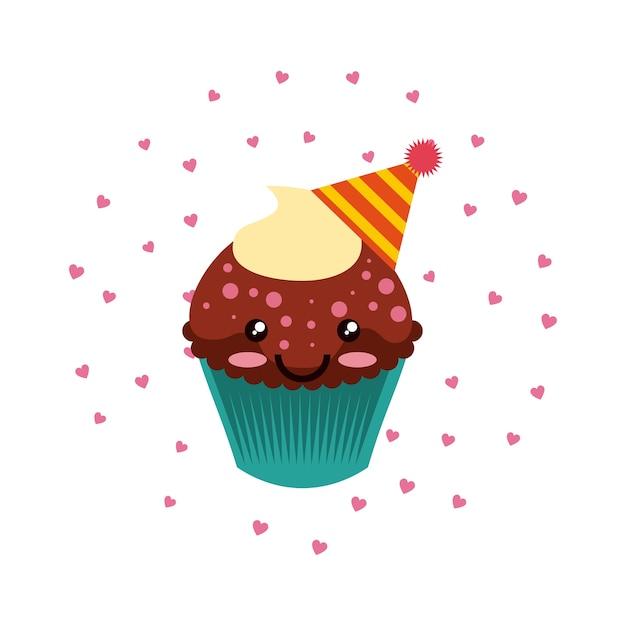 Icono De Dibujos Animados De Cupcake De Cumpleaños Descargar