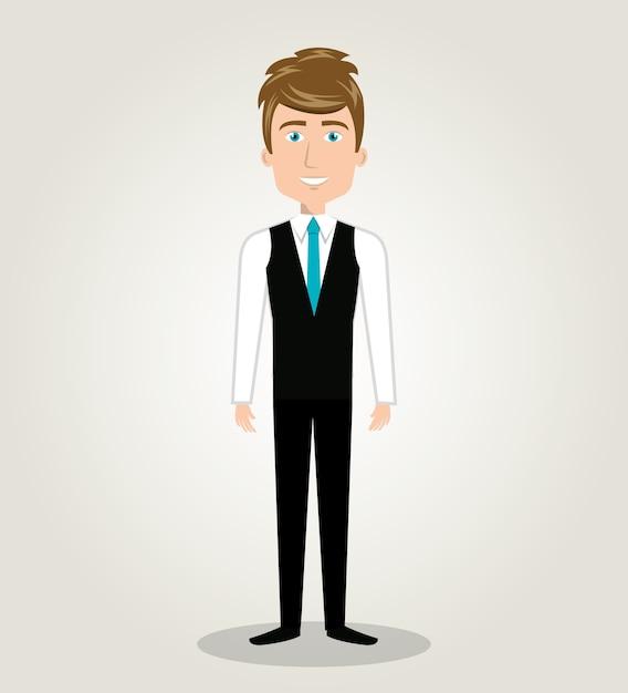 Icono De Diseño De Recursos Humanos De Pie Dibujos Animados