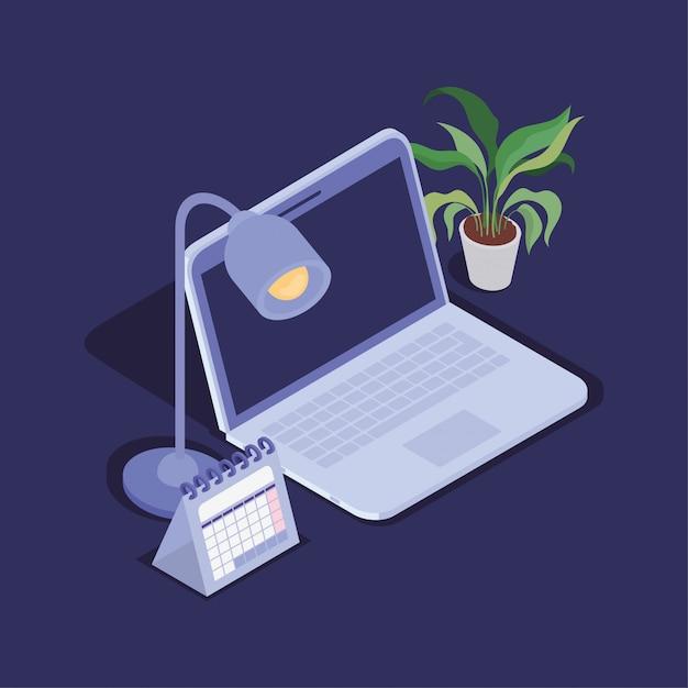 Icono de dispositivo de tecnología de computadora portátil Vector Premium