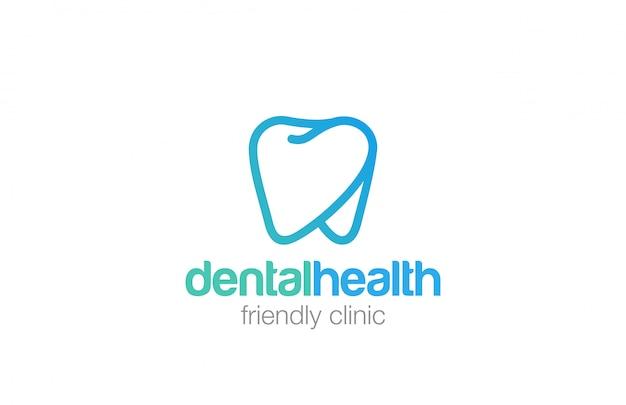 Icono de estilo lineal de salud dent logo. vector gratuito