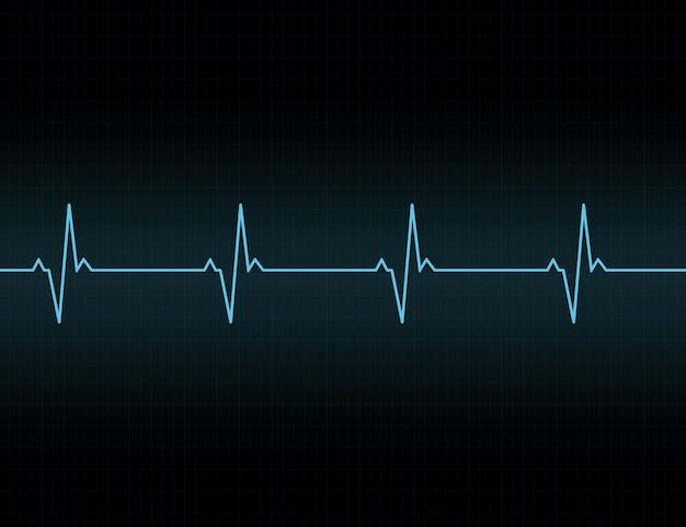 Icono de fondo de línea de latidos del corazón. Vector Premium