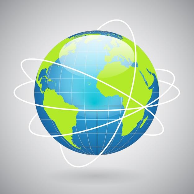 Icono de globo terráqueo vector gratuito