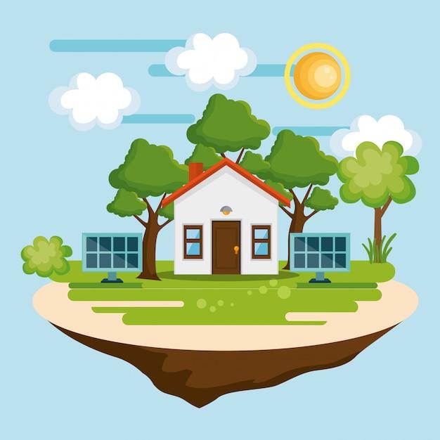 Icono de guardar el mundo casa vector gratuito