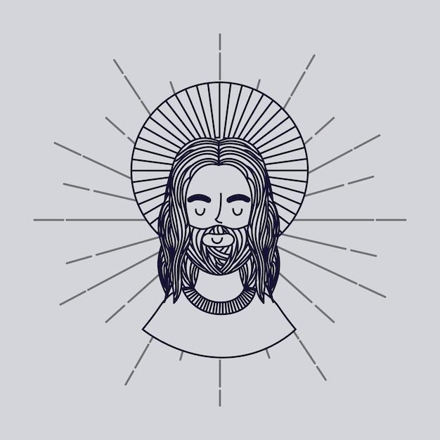 Icono del hombre jesucristo Vector Premium