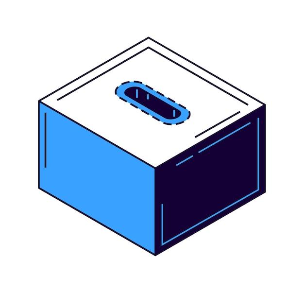 Icono de hucha billetes y moneda de oro isométrica vector gratuito