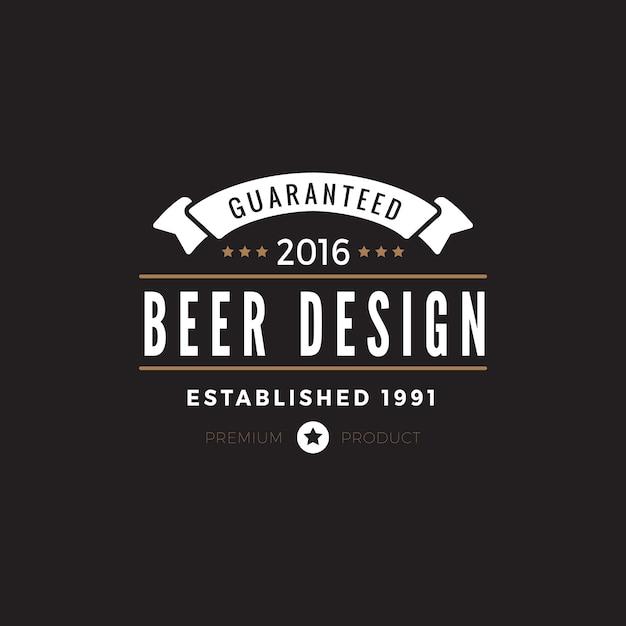 Icono de insignia de etiqueta vintage. Vector Premium