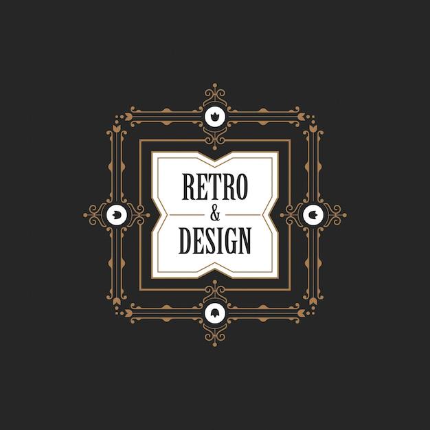 Icono de insignia de insignia de etiqueta vintage. vector gratuito