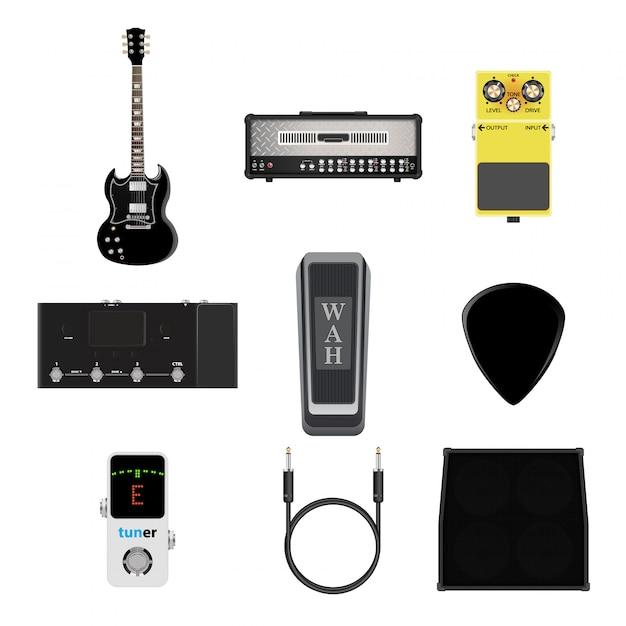 Icono de instrumentos musicales Vector Premium