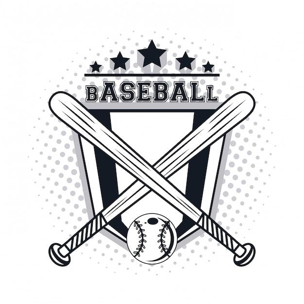 Icono de jugador de beisbol Vector Premium