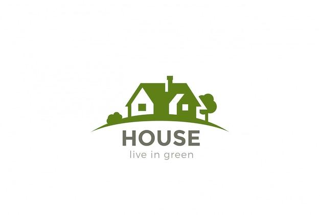 Icono del logotipo de la casa. estilo de espacio negativo. vector gratuito