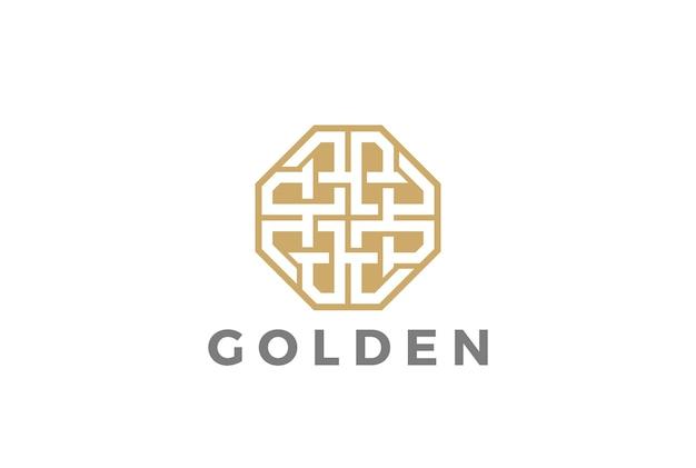 Icono de logotipo de joyería de lujo de moda. estilo lineal vector gratuito