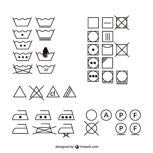 Icono del logotipo de lavado de material de vectores Vector Premium