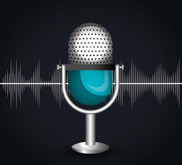 Icono de microfono vector gratuito