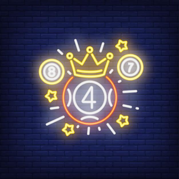 811de0ff31f38 Icono de neón del ganador de la lotería.