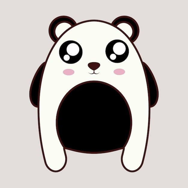 Icono De Oso Panda Kawaii Animal Descargar Vectores Premium