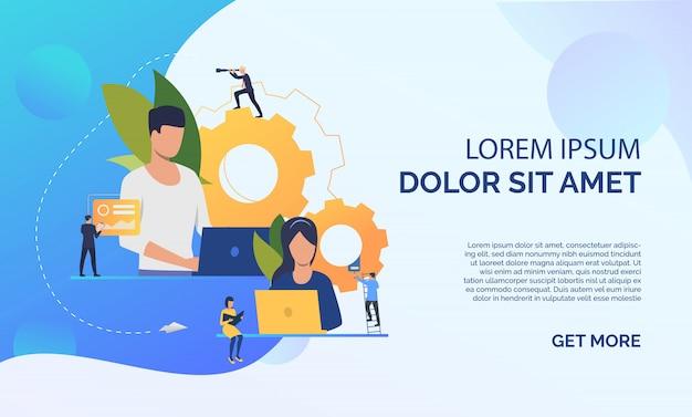 Icono plano de líderes de proyecto vector gratuito