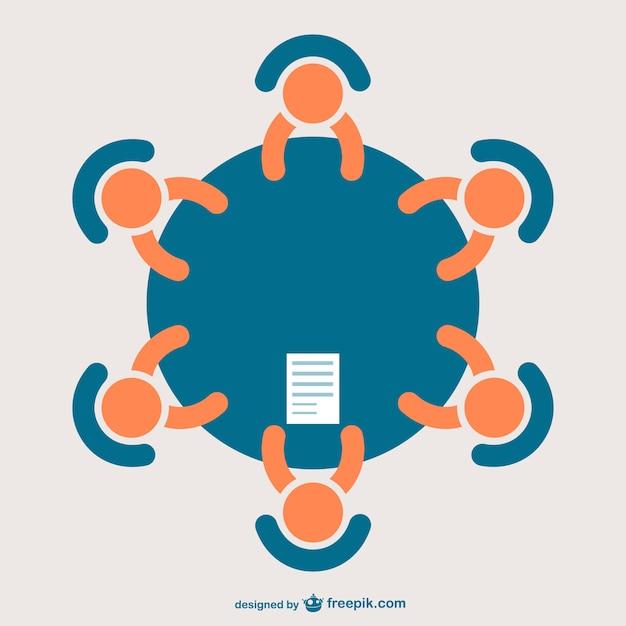 Icono de reunión de negocios vector gratuito