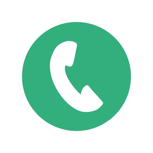 Icono de teléfono botón miniatura | Vector Premium