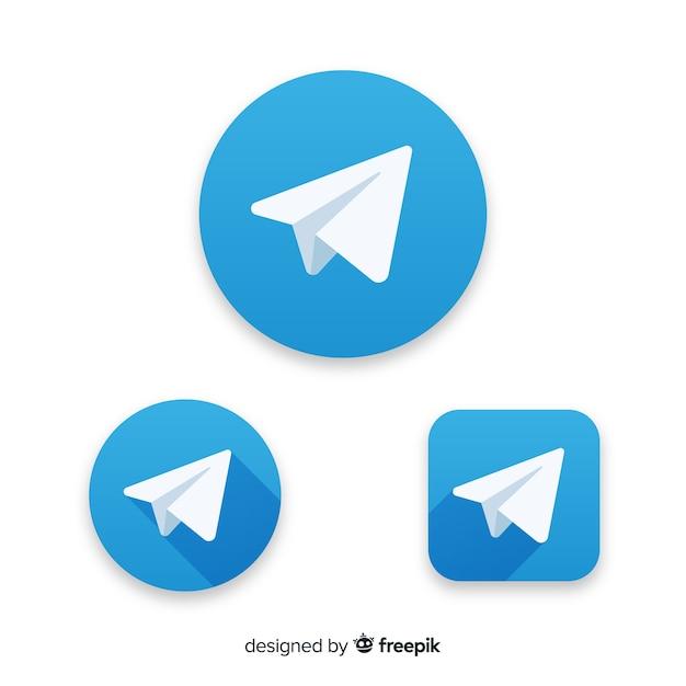 Icono telegram Vector Premium
