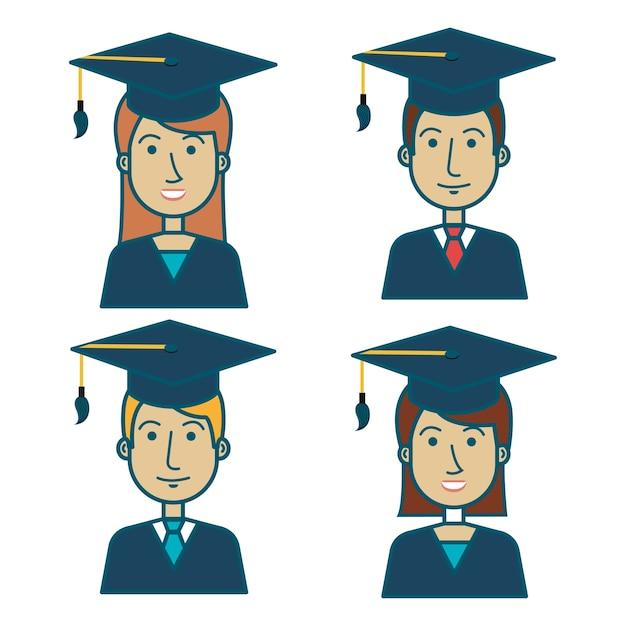 Icono de uniforme de graduación de estudiante | Descargar Vectores ...