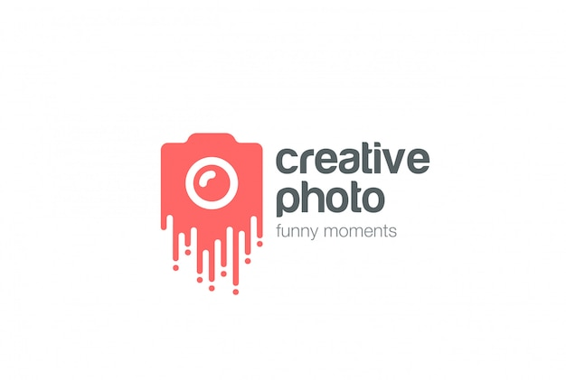 Icono de vector de creative photo logo. vector gratuito