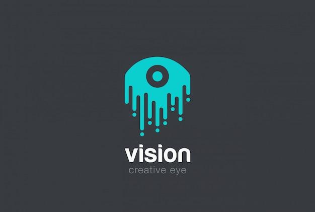 Icono de vector de logotipo de gota de ojo vector gratuito