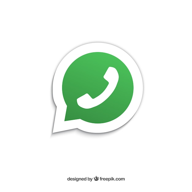 Icono whatsapp Vector Gratis