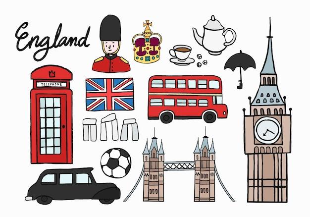 Iconos culturales británicos establecen ilustración | Descargar ...