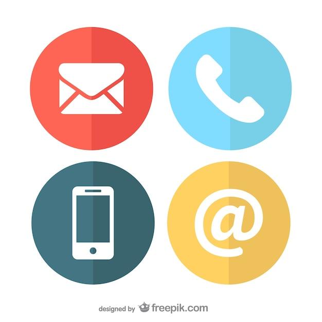 Iconos de comunicación Vector Gratis