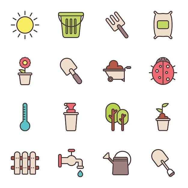 Iconos de jardiner a y agricultura descargar vectores for Imagenes de jardineria gratis