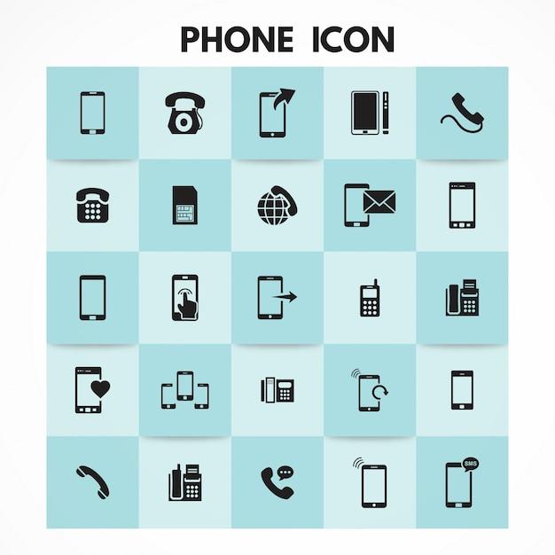 Iconos de medios y comunicación Vector Gratis