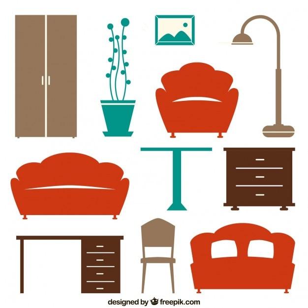 Iconos de muebles de casa descargar vectores gratis for De casa muebles