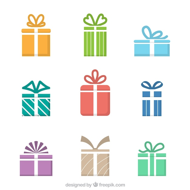 Iconos de regalo de colores descargar vectores gratis for Pc in regalo gratis