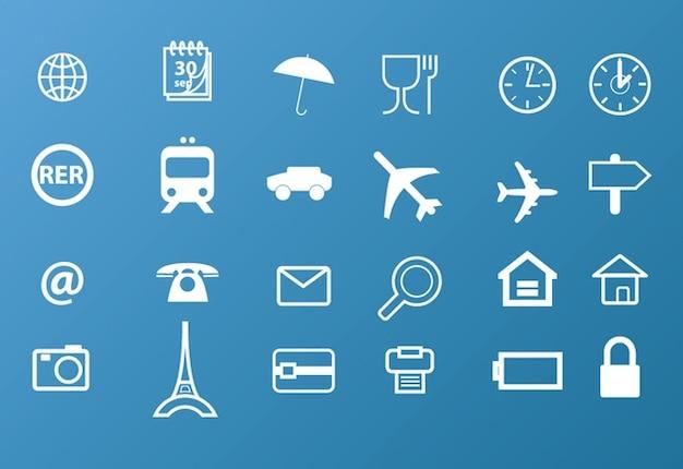 iconos de viaje Vector Gratis